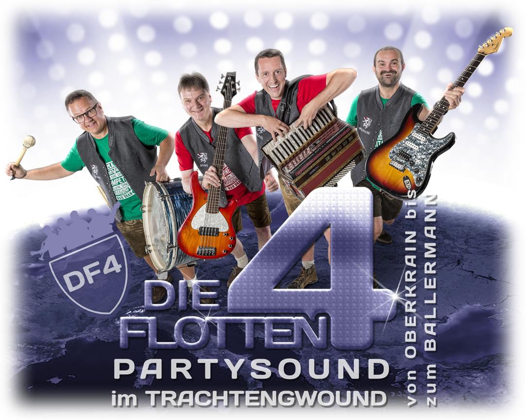 """CD-Cover """"Die FLOTTEN 4"""" Partysound im Trachtengwound"""